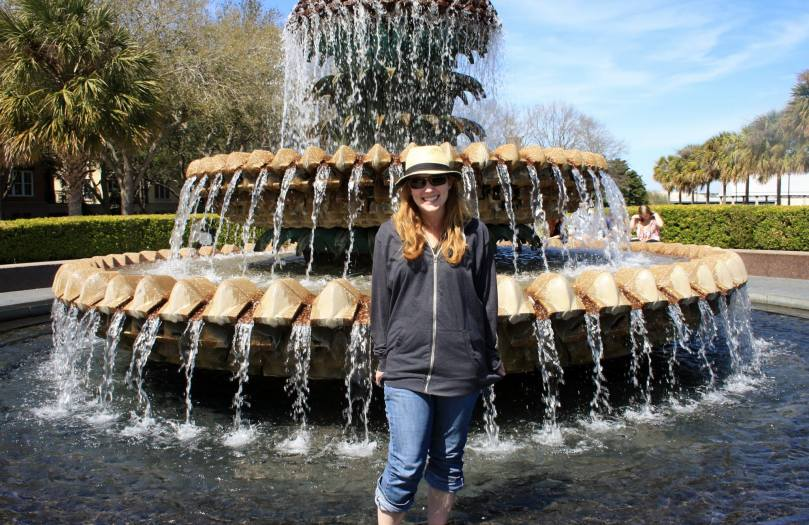 Me in front of the fountain.