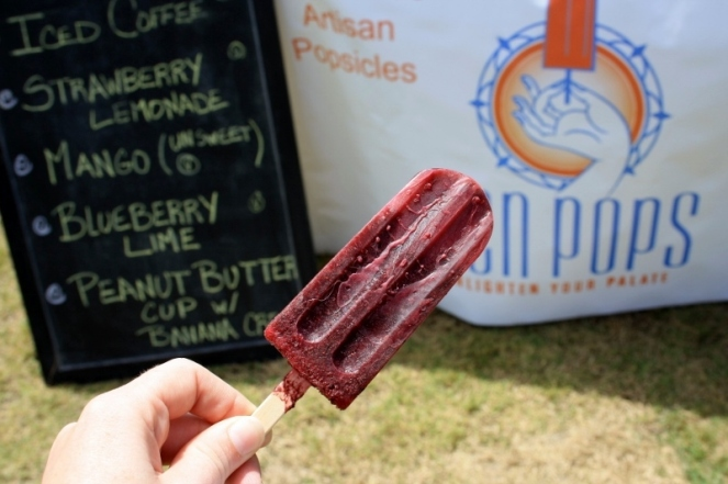 Blueberry Lime popsicle from Zen Pops at the Manteo Farmer's Market - such a fabulous, fresh taste.