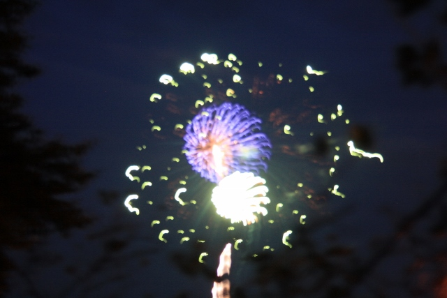 The best picture of fireworks that I've gotten in years. One day I will get a good one.