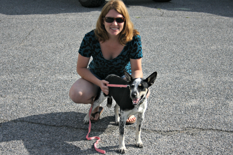 Belle and I at the Heritage Farm Festival on Saturday.